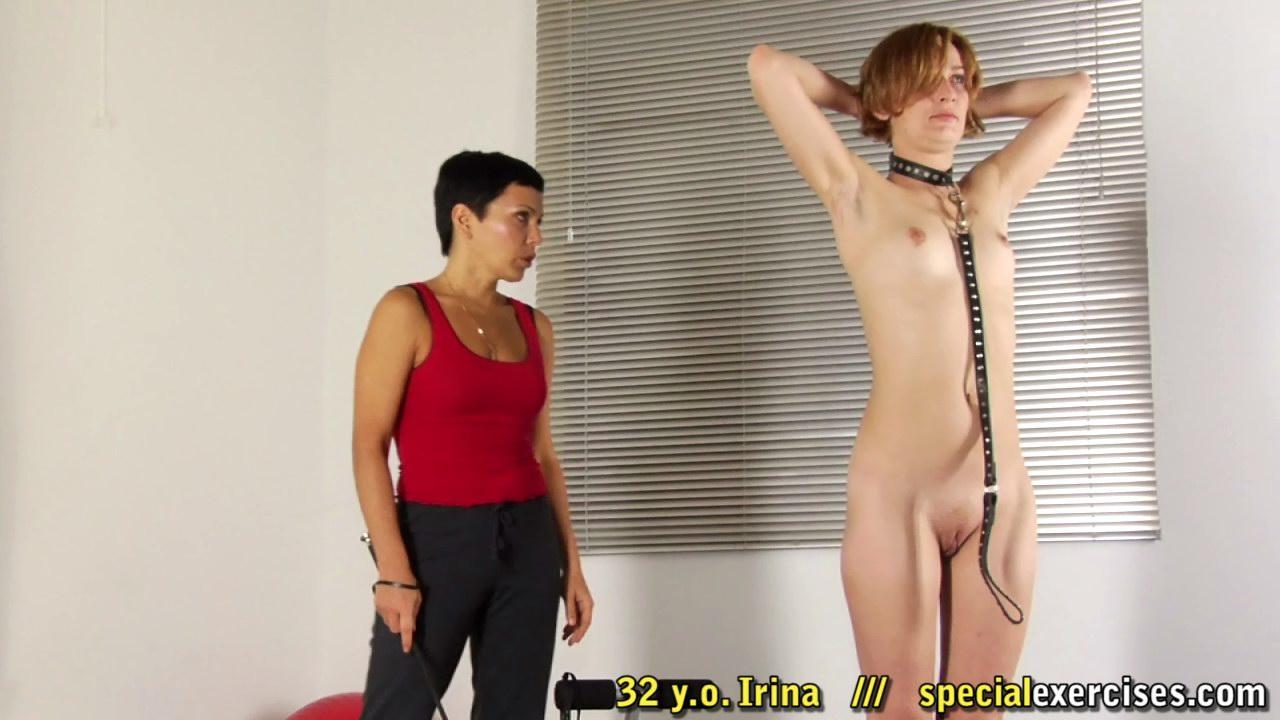 Irina - ex ballerina trained hard as BDSM slave milf.