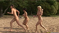 nude girls running on the beach