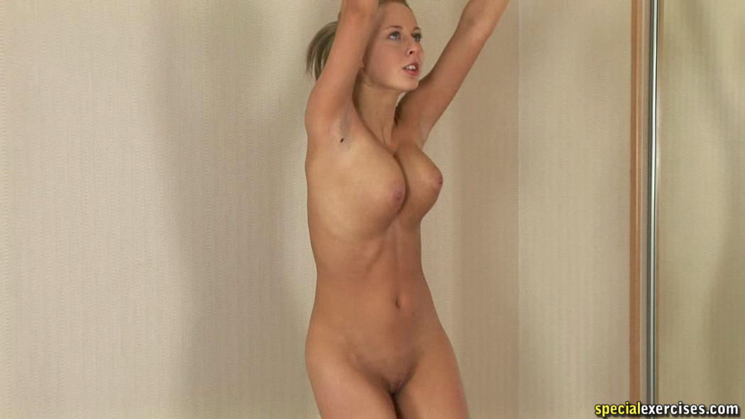 girl exercise naked