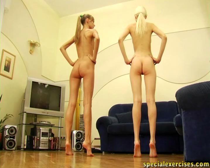 Naked training for submissive teen girl 4